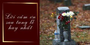 lời cảm tạ sau tang lễ công giáo